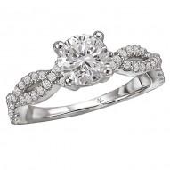 Braided Semi-Mount Diamond Ring