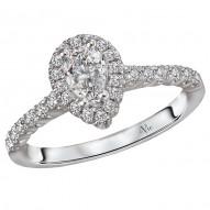 Halo Semi Mount Diamond Ring