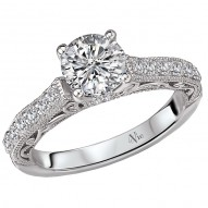 Peg Head Semi-Mount Diamond Ring