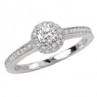 Round Halo Complete Diamond Ring