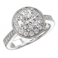 Round Halo Complete Diamond Ring