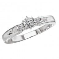 Peg Head Diamond Ring