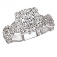 Split Shank Semi-Mount Diamond Ring