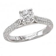 Peg Head Semi-Mount Diamond Ring