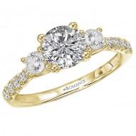 3 Stone Semi-Mount Diamond Ring