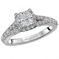 Sapphire and Diamond Semi-Mount Ring