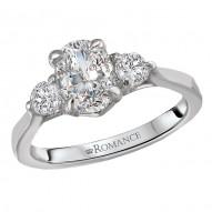 3-Stone Semi Mount Diamond Ring
