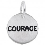 COURAGE CHARM TAG W/9152