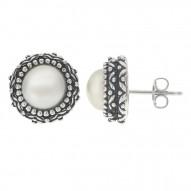 Antique Fresh Water Pearl Earrings