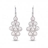 Fresh Water Pearl Imperial Lace Earrings