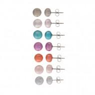 7 Set Multi color Pearl Stud Earrings