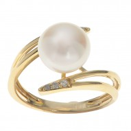 Fresh Water Pearl Free Form Ring
