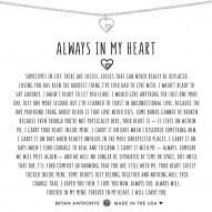 Always In My Heart Necklace - Finish - Silver