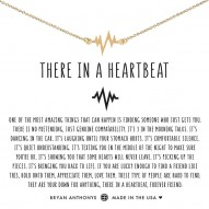 There In A Heartbeat Necklace - Finish - 14k Gold Plated