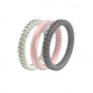 Groove Air Silicone Ring - Stackable - Mineral