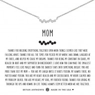 Mom Necklace  - Finish - Silver > Stone - Crystal