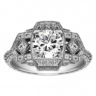 Round Diamond Vintage Engagement Ring