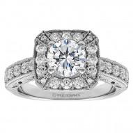 Round Diamond Halo Vintage Engagement Ring