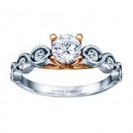 White Gold Round Cut Diamond Infinity Engagement Ring