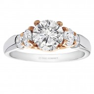 Round Cut Center Diamond Classic Engagement Ring