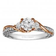 Round Cut Diamond Vintage Style Engagement Ring