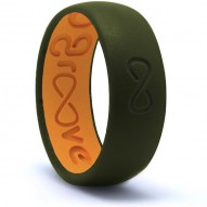 Groove Original Silicone Ring - Moss Green and Orange