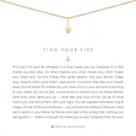 Find Your Fire Necklace - Finish - 14K Gold Plated