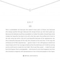 Grit Necklace - Finish - Silver