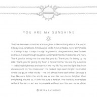 You Are My Sunshine Necklaces - Finish - Silver