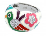 Perroquet White Ring