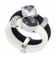 Venezia Black/White Ring