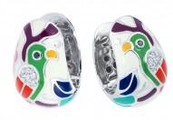 Perroquet White Earrings