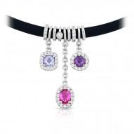 Diana Black/Pink Necklace