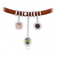 Diana Brown/Champagne Necklace