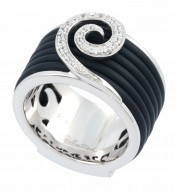 Swirl Black Ring