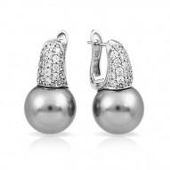 Pearl Candy Grey Earrings
