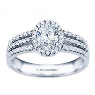 Rm1394v-14k White Gold Halo Engagement Ring