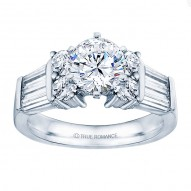 Rm509-14k White Gold Classic Engagement Ring