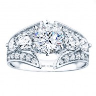 Rm921 -14k White Gold Classic Engagement Ring