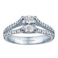 Rm999v-14k White Gold Classic Engagement Ring