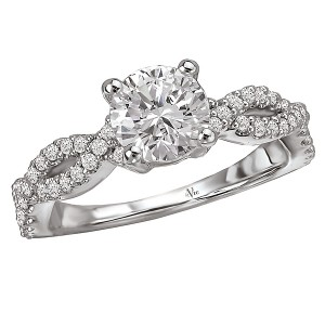 Braided Semi-Mount Diamond Ring