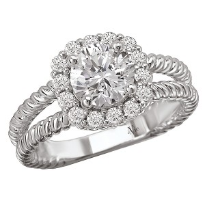 Halo Diamond Semi-Mount Ring