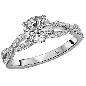 Braided Shank Semi-Mount Diamond Ring