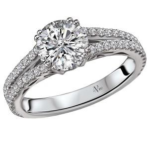 Split Shank Diamond Ring