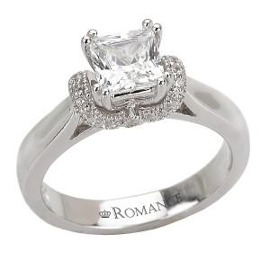 Solitaire Semi-Mount Diamond Ring