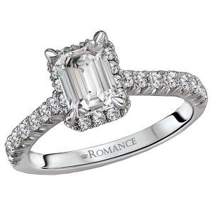 Halo Semi-Mount Diamond Ring