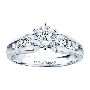 Me180-14k White Gold Classic Engagement Ring