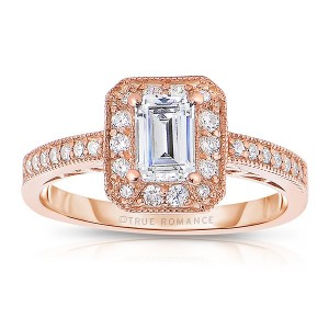 Rm1318ers-14k Rose Gold Engagement Ring From The Pink About It Collection