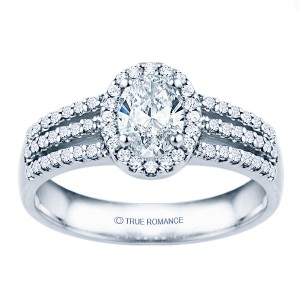 Rm1394v-14k White Gold Halo Engagement Ring