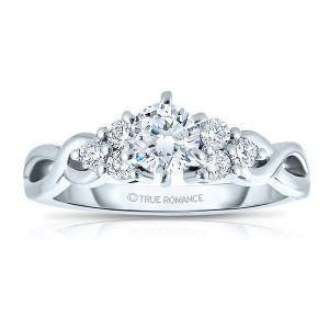 Rm1450 -14k White Gold Round Cut Diamond Infinity Engagement Ring